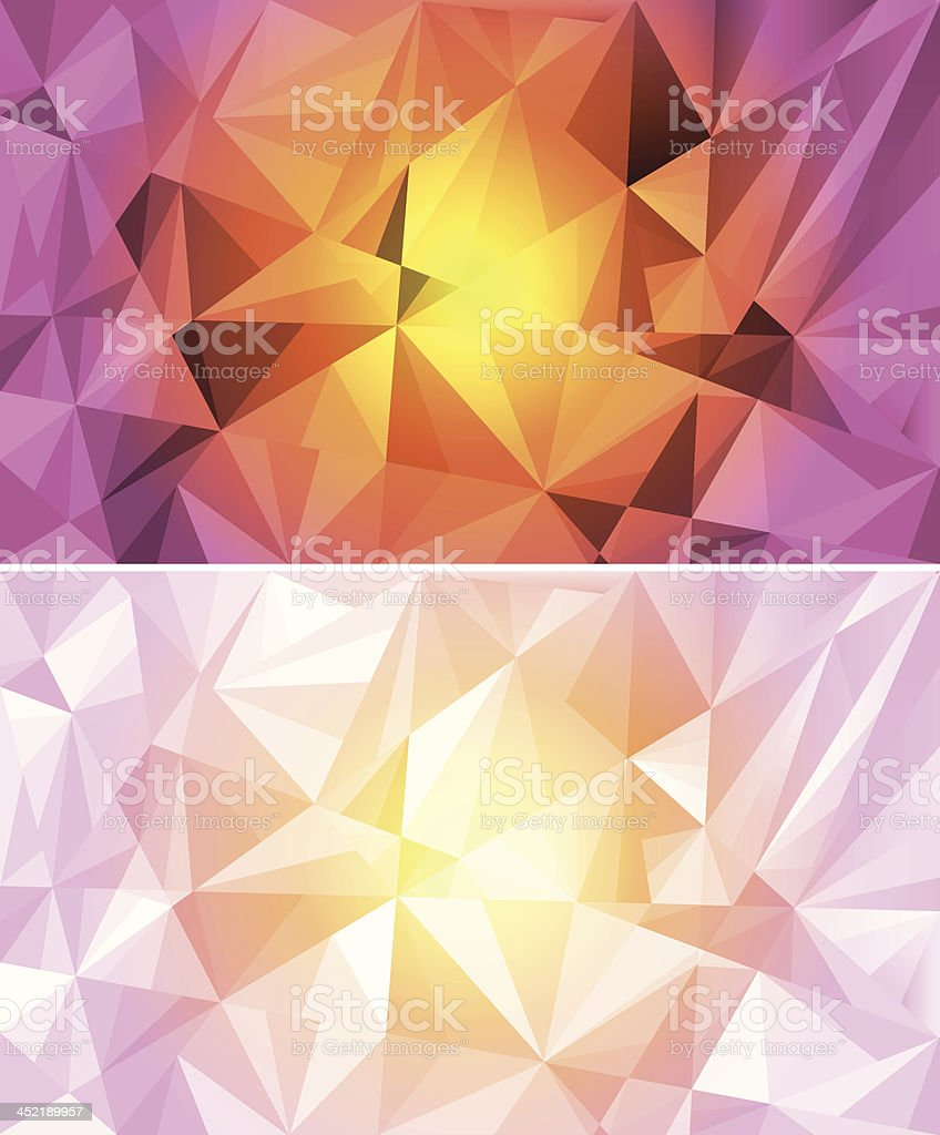 Set of colorful polygon abstract background royalty-free stock vector art