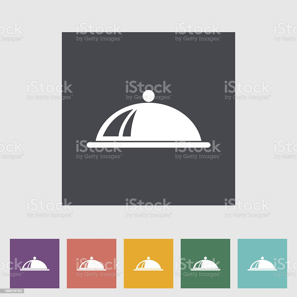 Set of colorful tray icons on white background vector art illustration