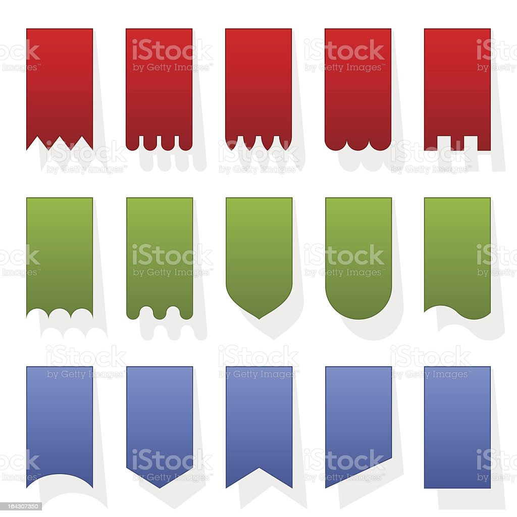 Set of colorful vertical banner templates royalty-free stock vector art
