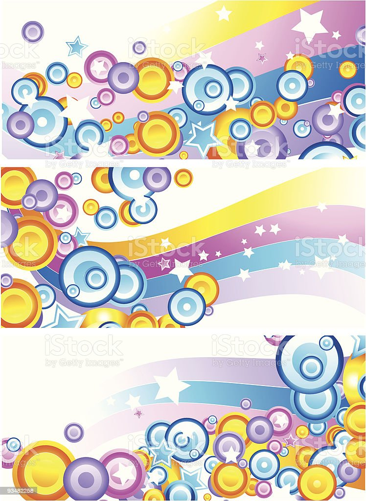 Set of colourful abstract banners royalty-free stock vector art