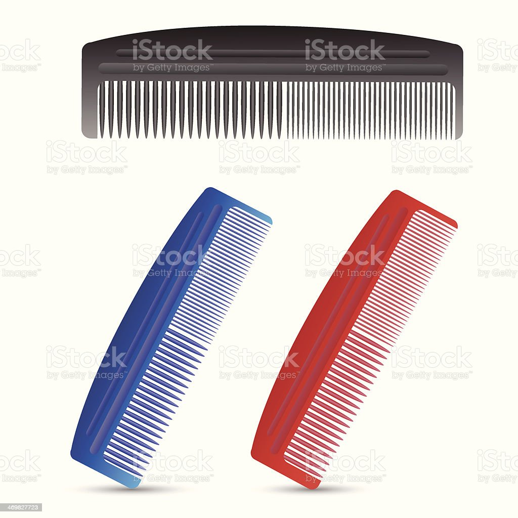 set of combs royalty-free stock vector art