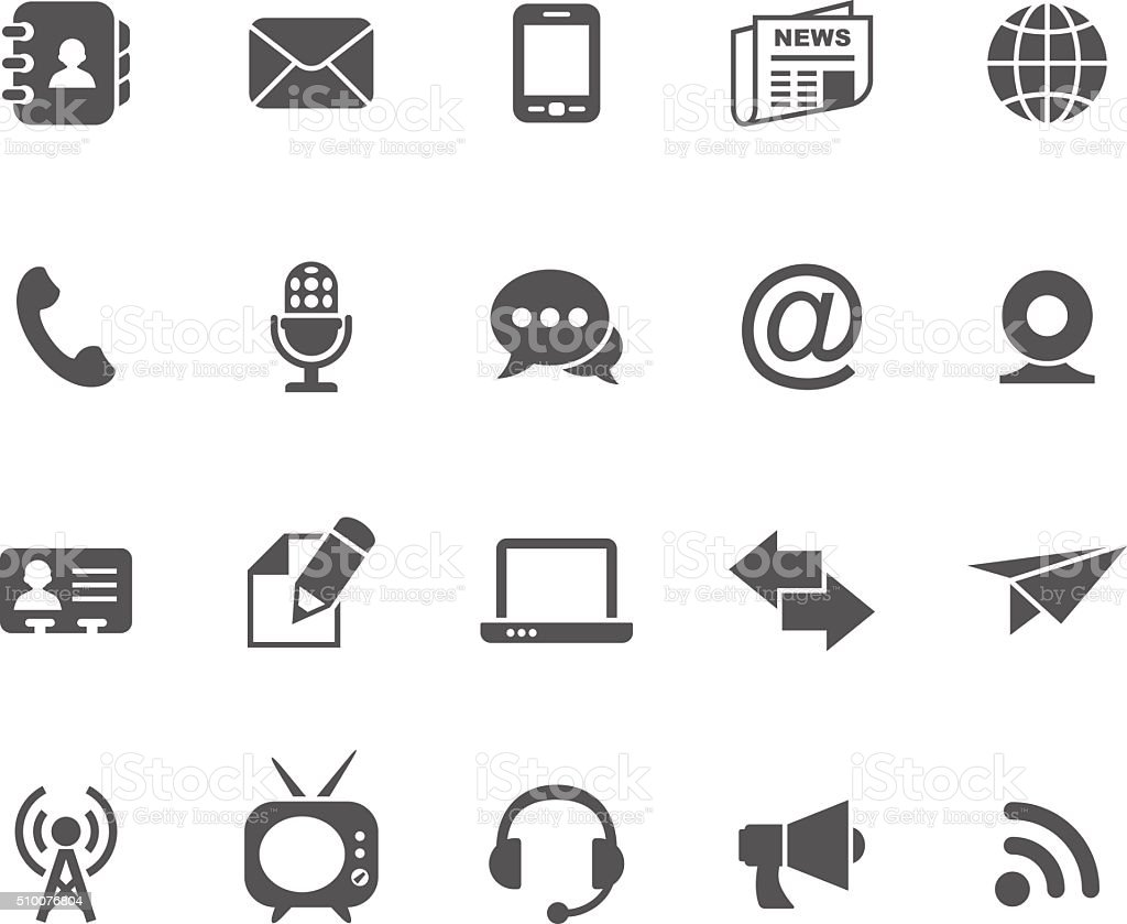 Set of communication vector icons vector art illustration