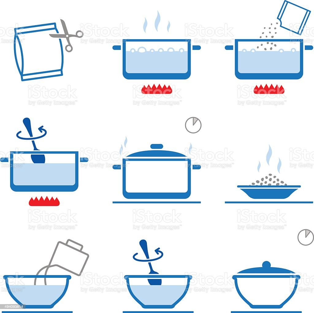 Set of cooking instruction. Vector elements vector art illustration