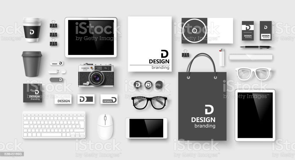 Set of corporate identity and branding. Vector vector art illustration