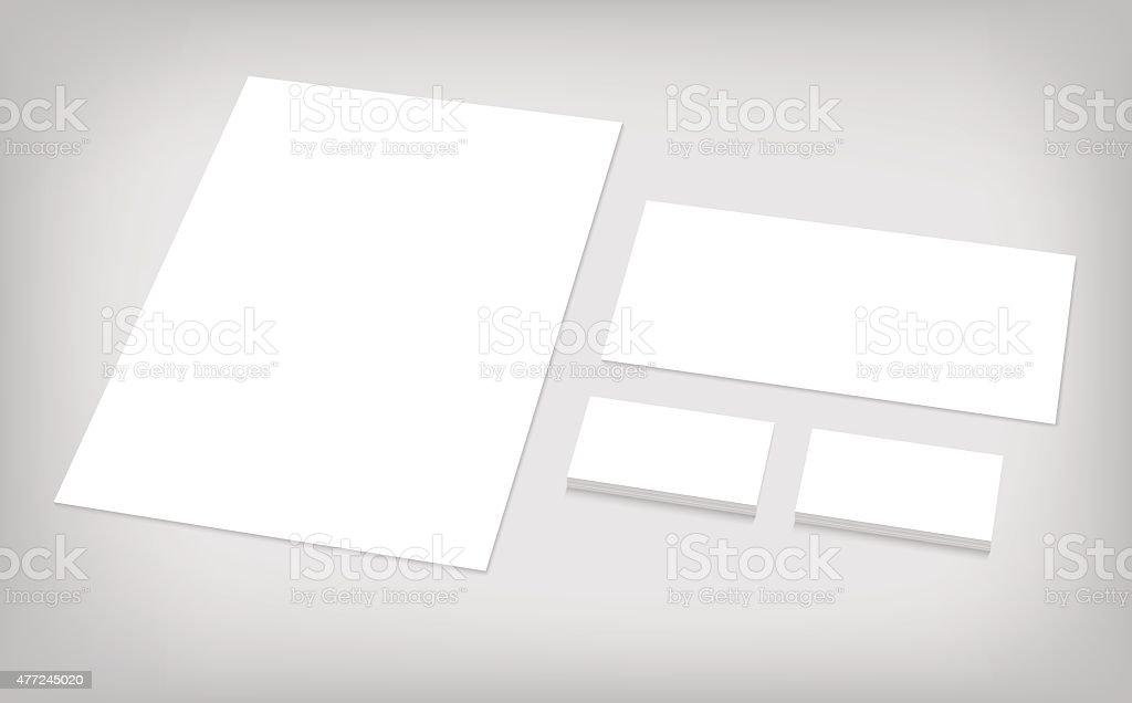 set of corporate identity template vector art illustration