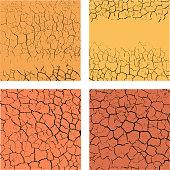 Set of cracks backgrounds