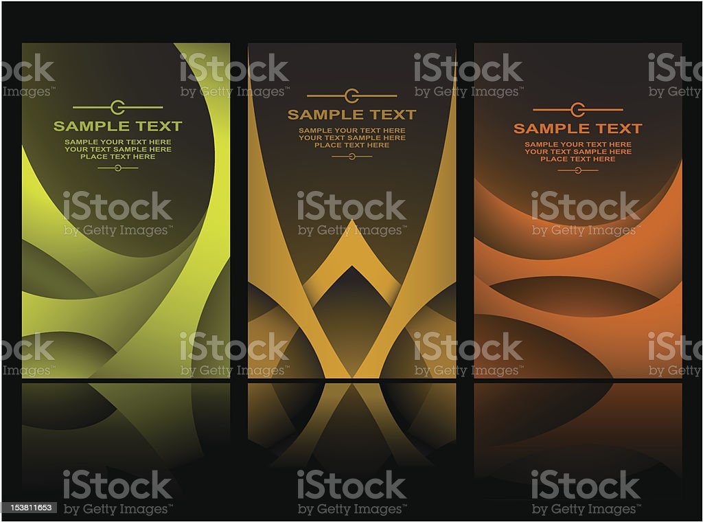 Set of creative business cards royalty-free stock vector art