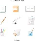 Set of creative icons