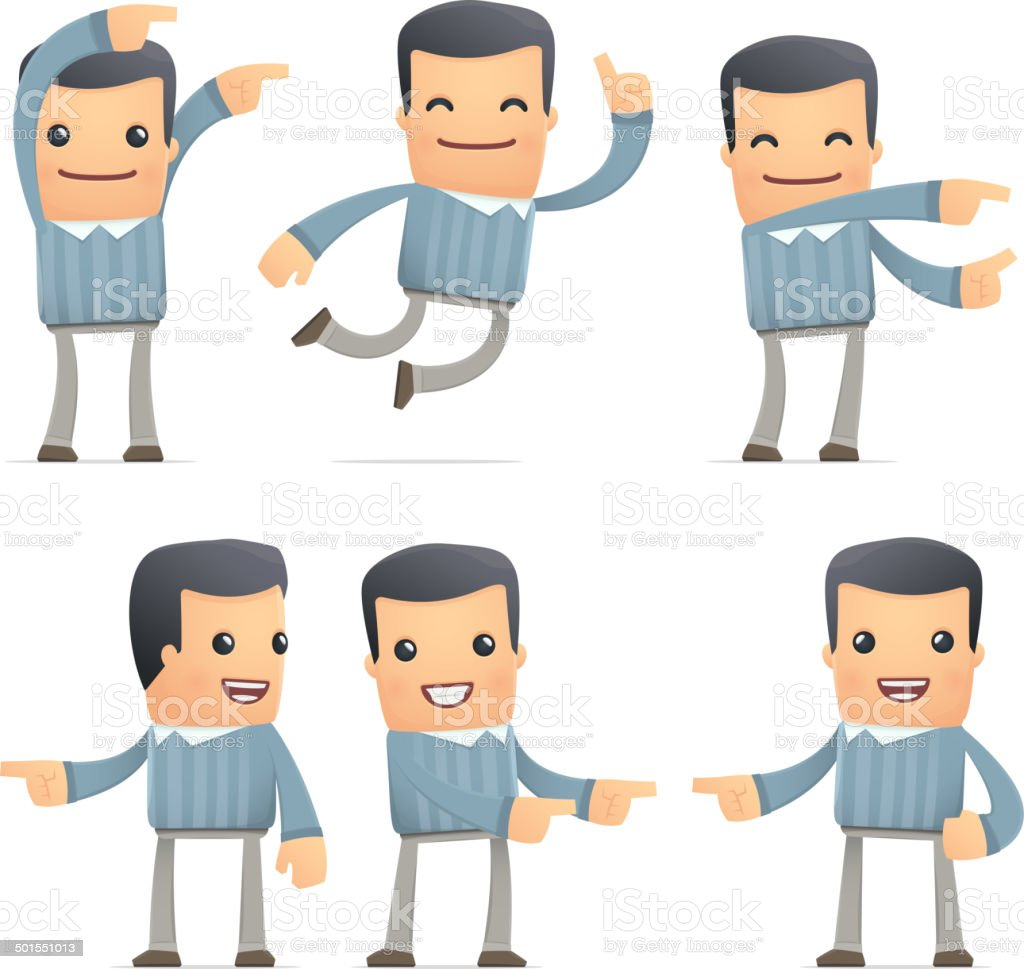 set of customer character in different poses royalty-free stock vector art