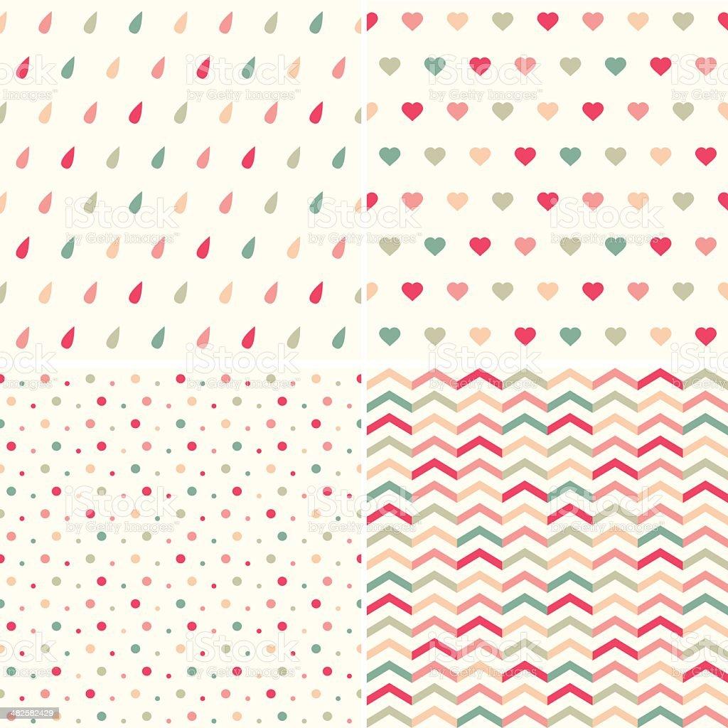 Conjunto de patrones geométricos. Monada illustracion libre de derechos libre de derechos