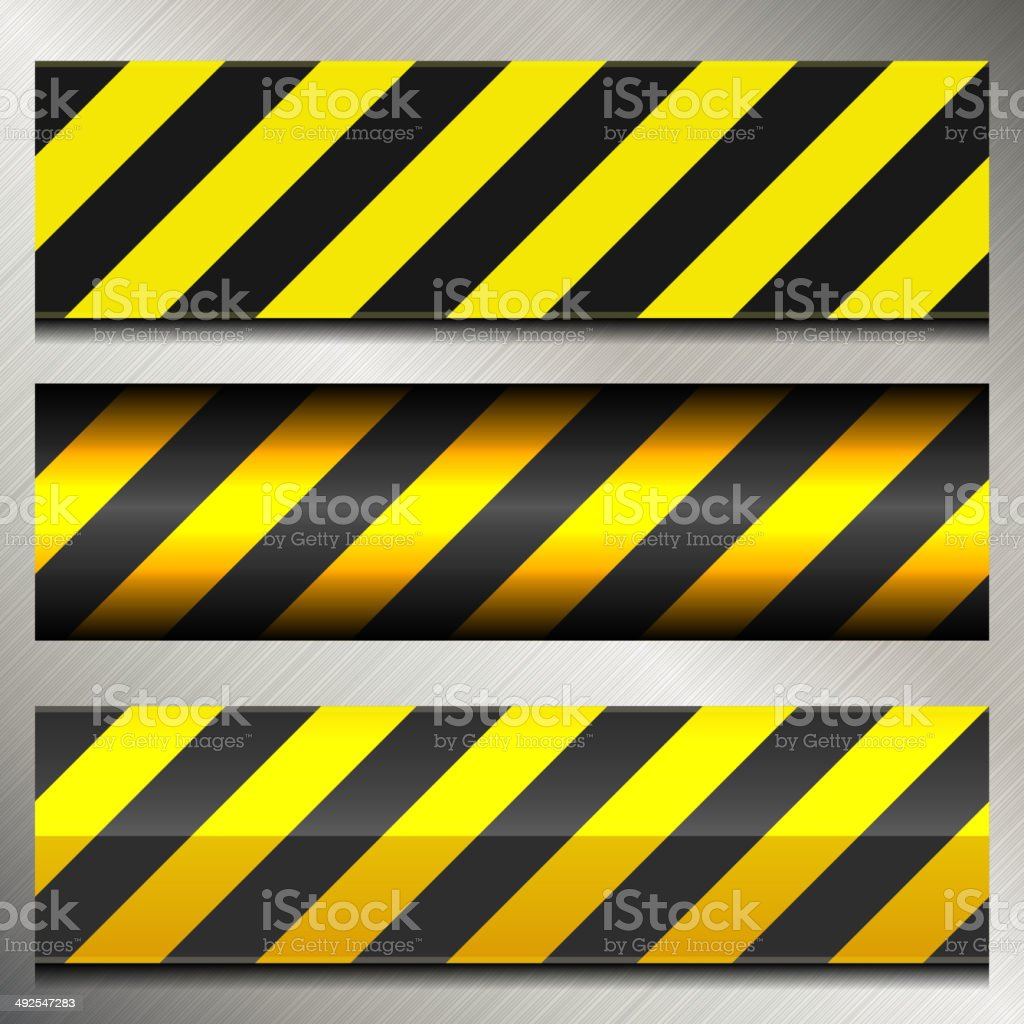 Set of Danger and Police Warning Lines royalty-free stock vector art