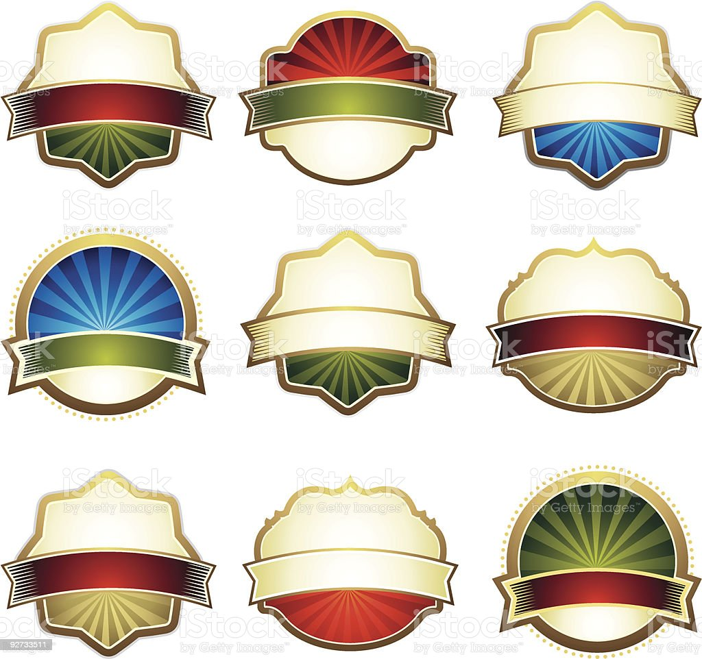 set of design element royalty-free stock vector art
