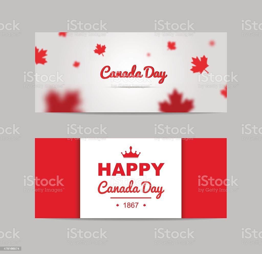 Set of design elements for Canada Day 1st of July. vector art illustration