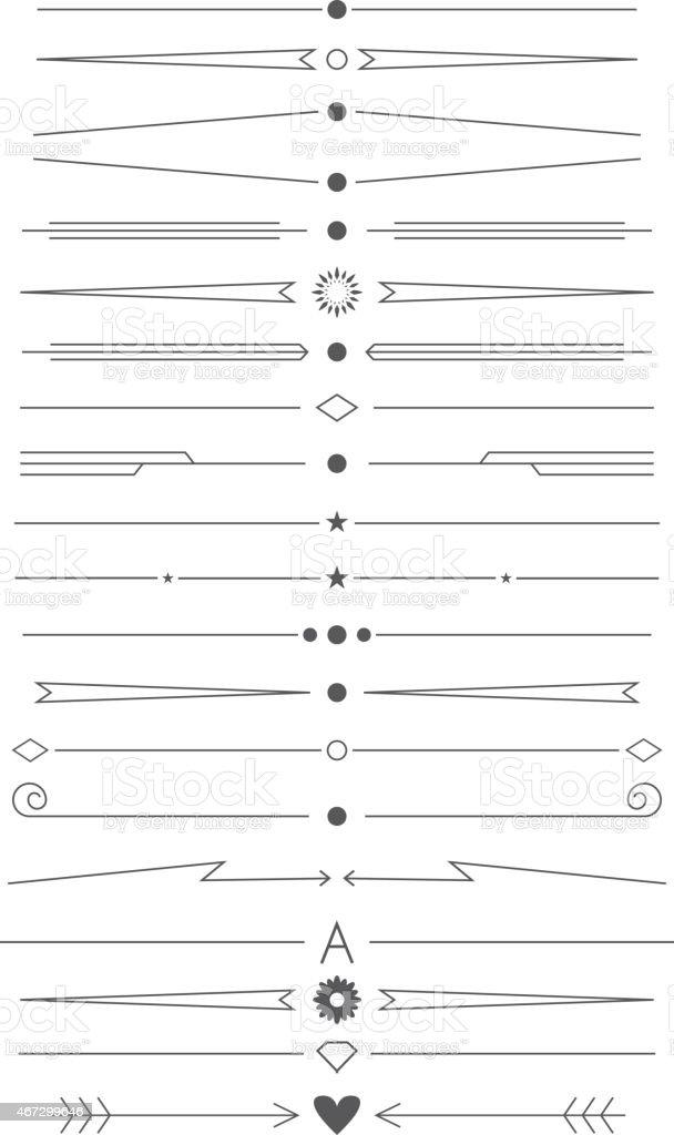 set of design elements for page decoration vector art illustration