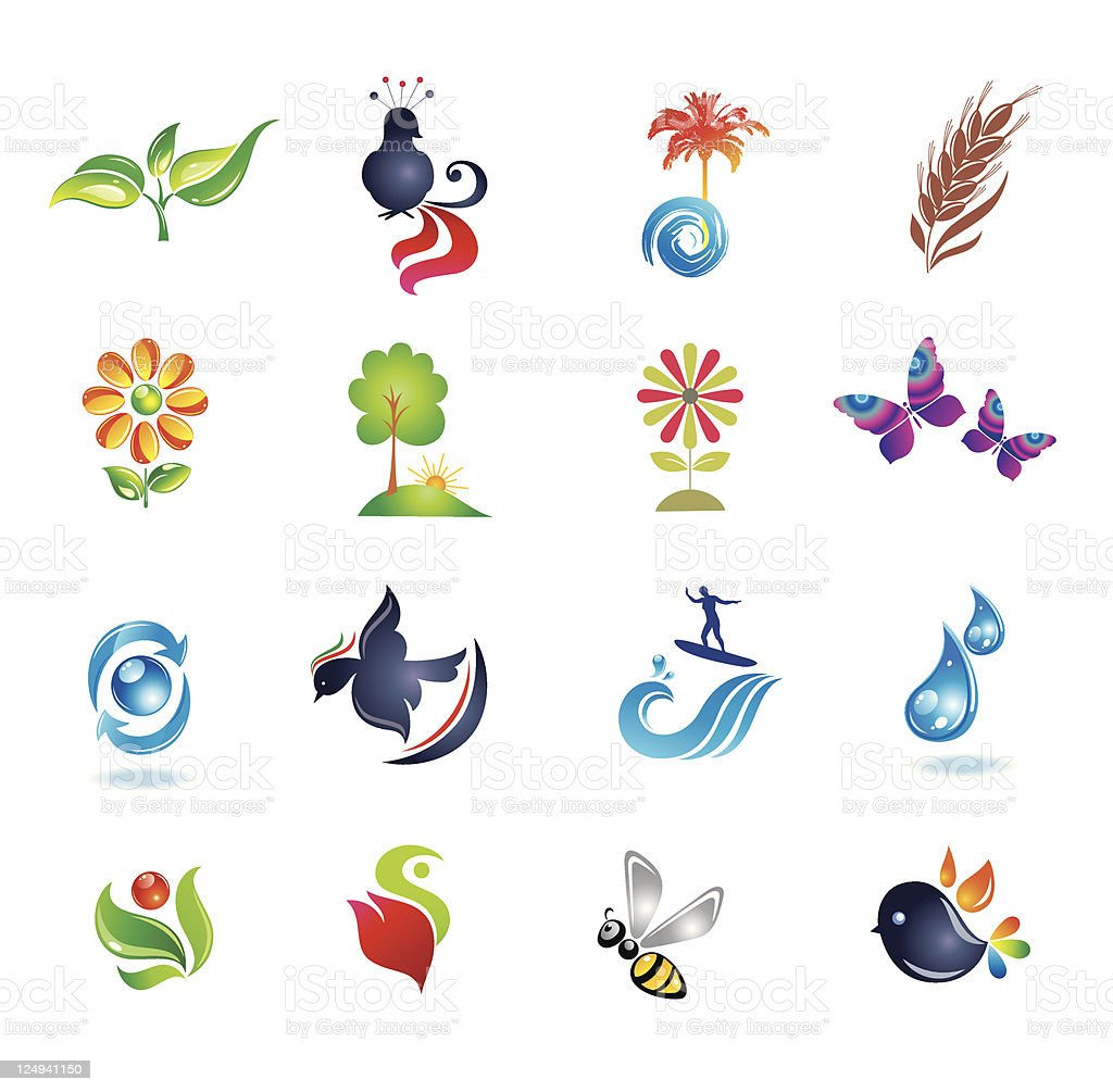Set of design elements. Nature. royalty-free stock vector art