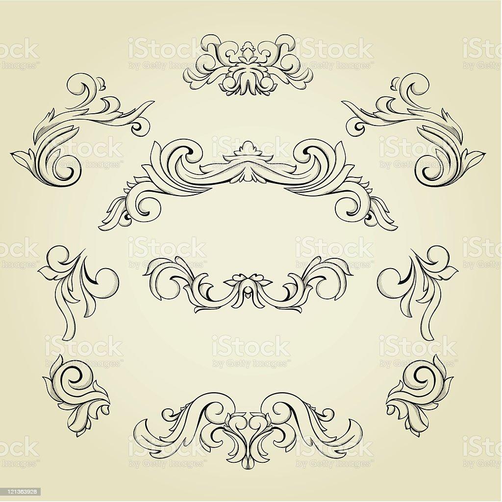 Set of design elements royalty-free stock vector art