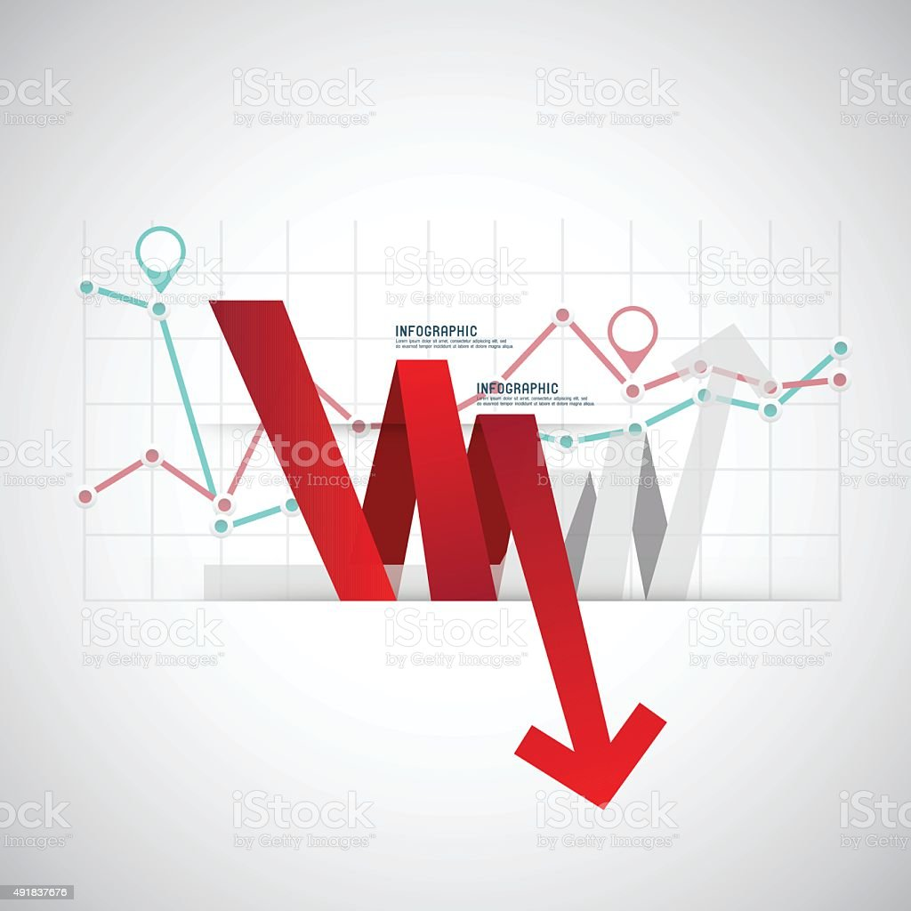 Set of different graphs and charts, vector eps10 illustration vector art illustration