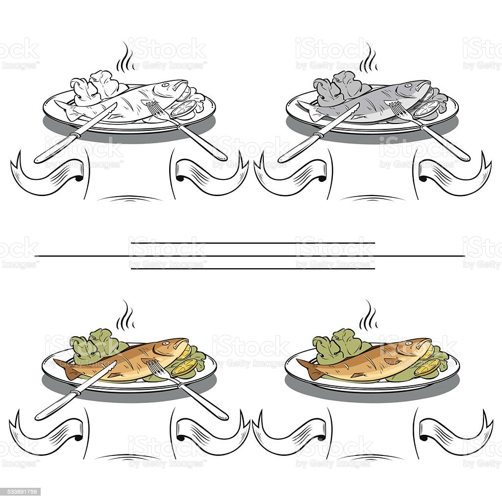 set of different images of fish royalty-free stock vector art