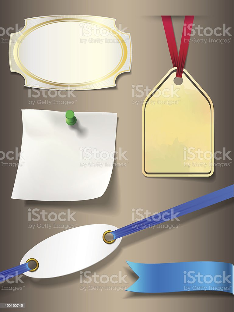 set of different labels royalty-free stock vector art