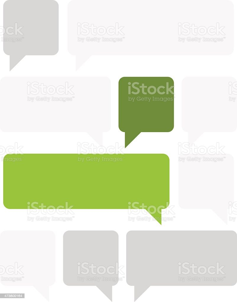 Set of different sizes of text boxes vector art illustration