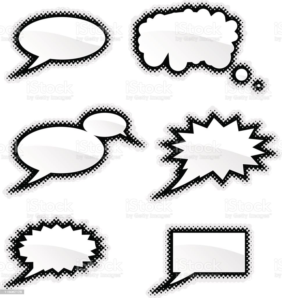 Set of different speech bubbles royalty-free stock vector art