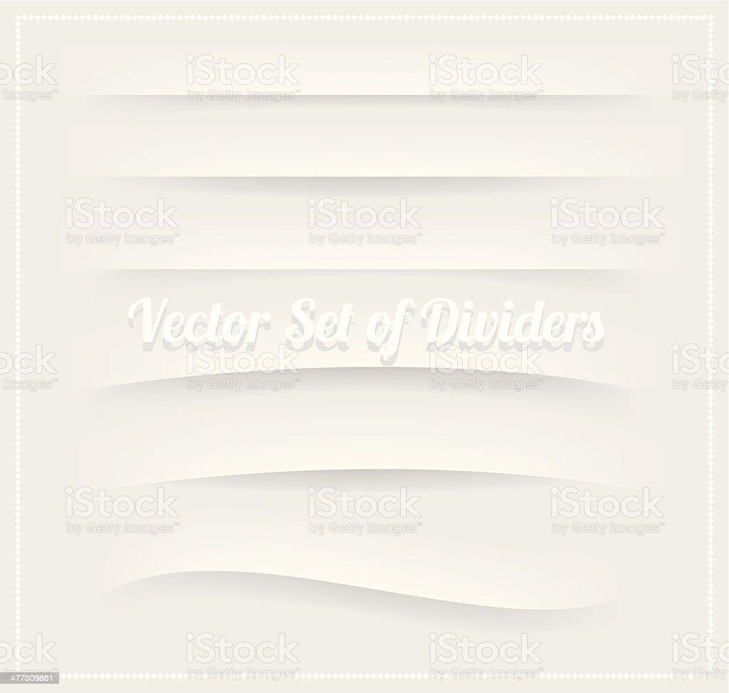 Set of dividers for web design vector vector art illustration