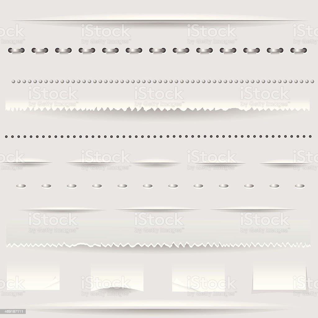 set of dividers vector art illustration