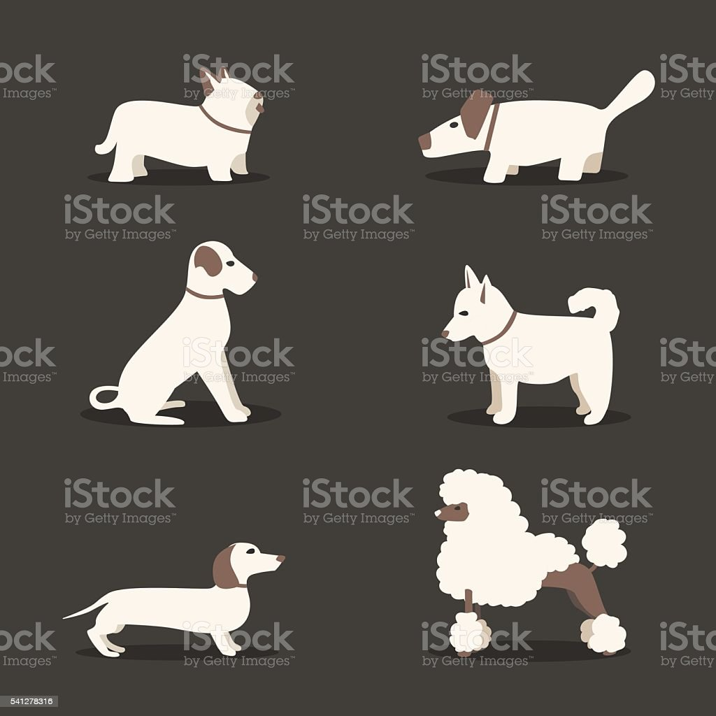 Set of dogs. Cartoon vector illustration. Vet clinic vector art illustration