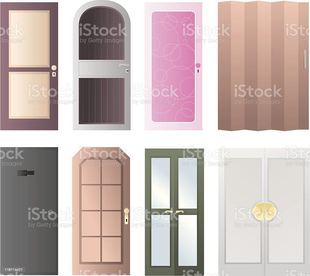 Set of doors icon vector art illustration