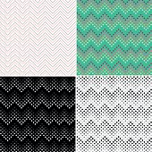 Set of dotted lines pattern background