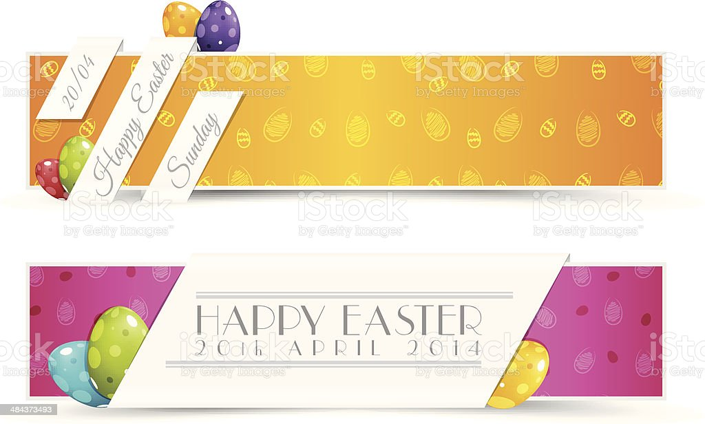 Set of Easter Holiady Banners royalty-free stock vector art