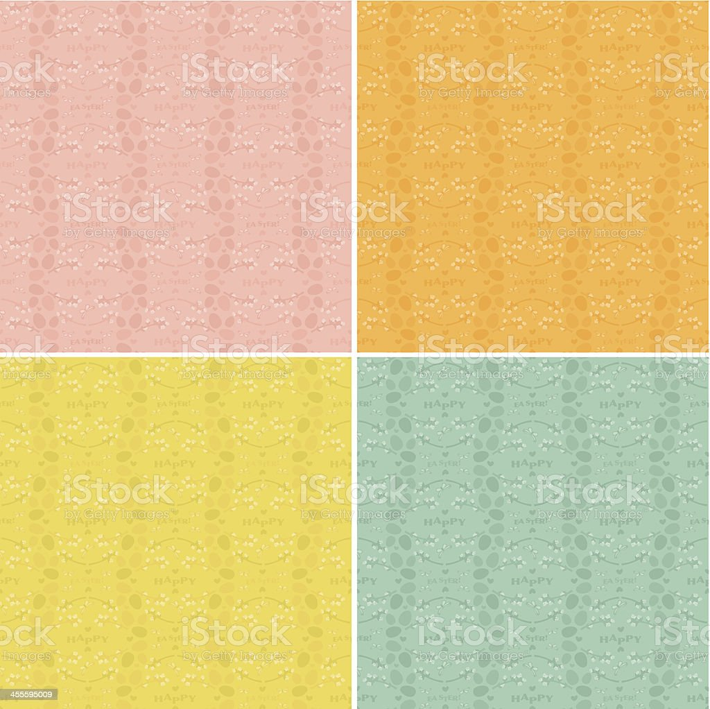 Set of Easter Patterns royalty-free stock vector art
