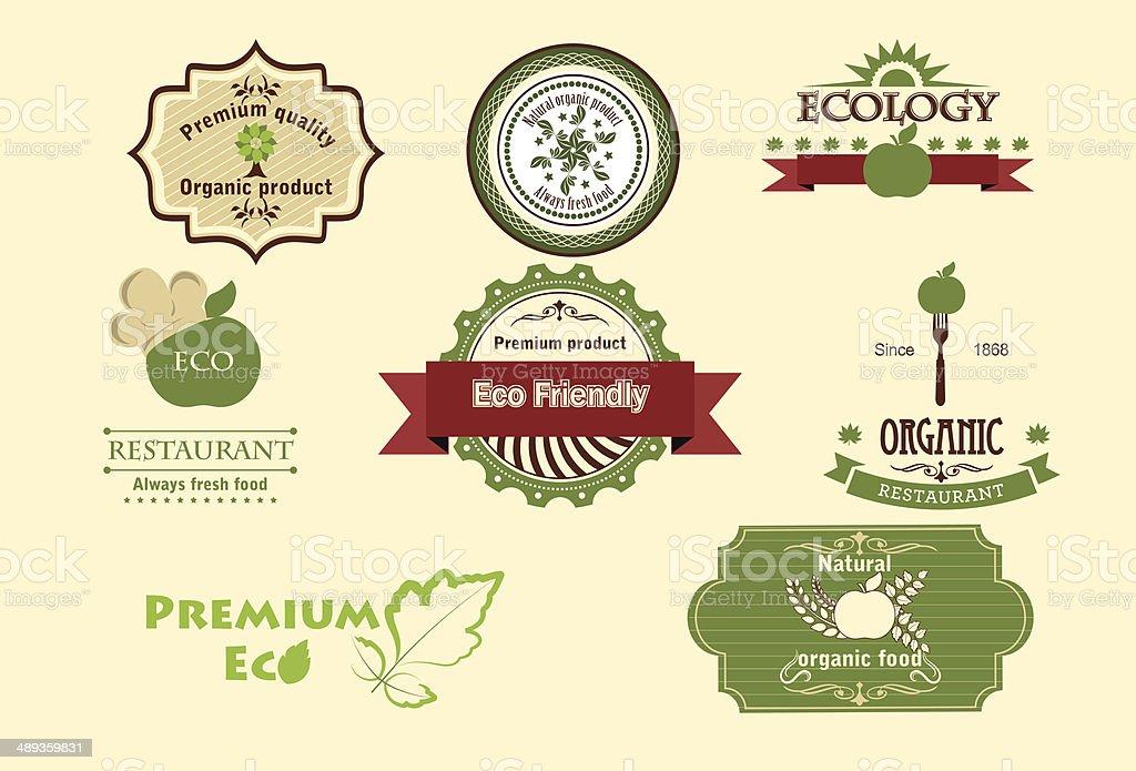 Set of eco icons. vector art illustration