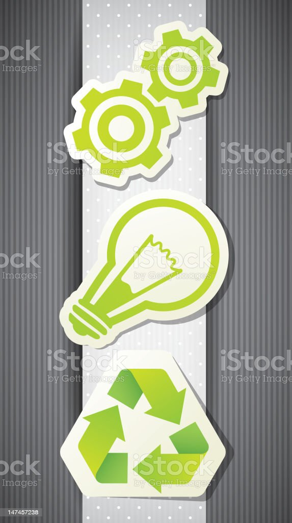 set of eco labels royalty-free stock vector art