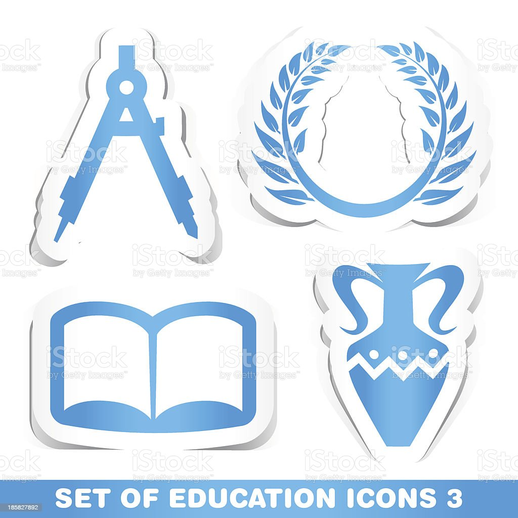 Set of Education Icons 3. royalty-free stock vector art