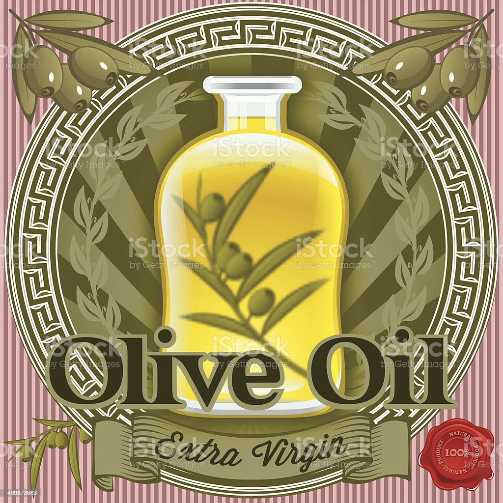 set of elements for design olive oil royalty-free stock vector art