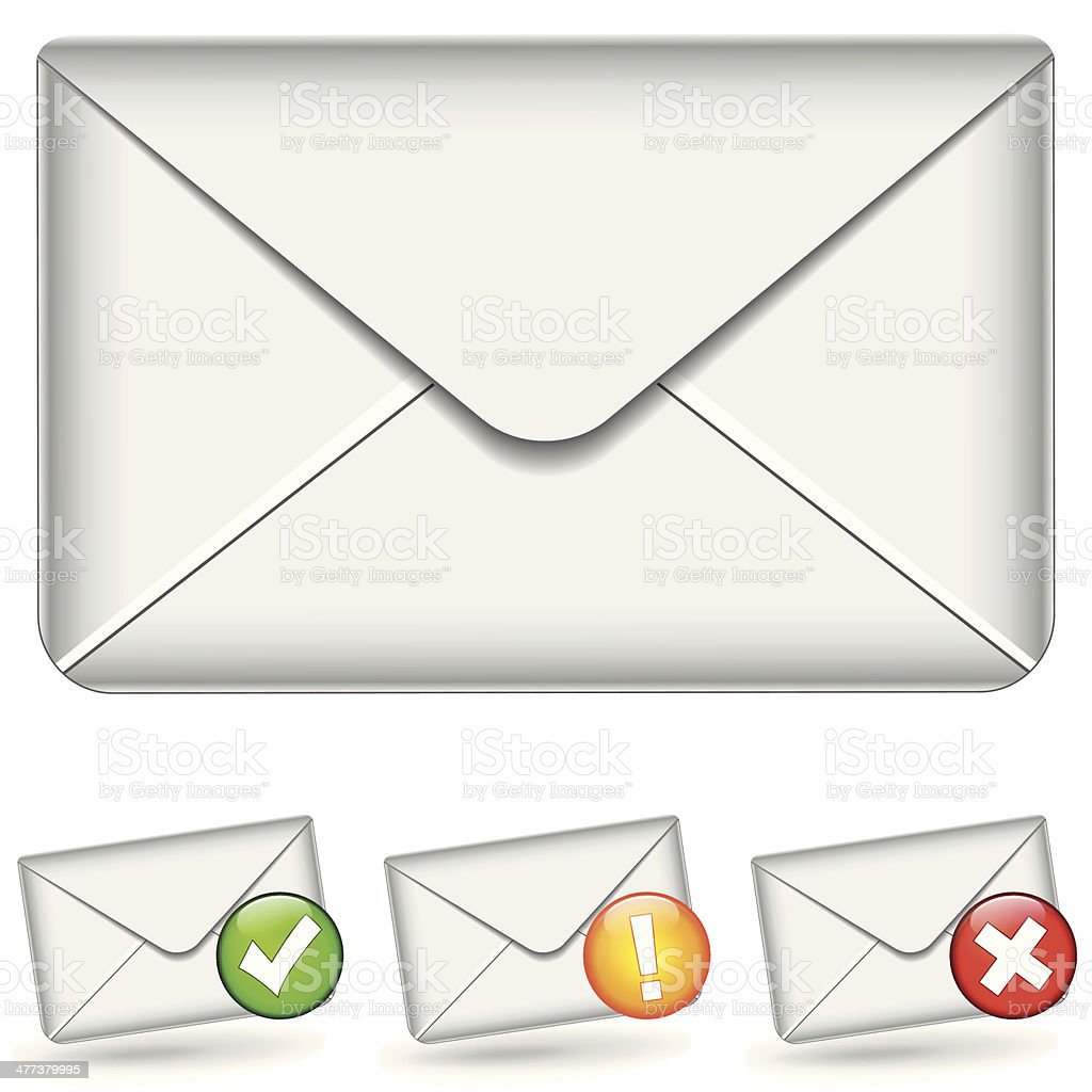 set of email icons royalty-free stock vector art