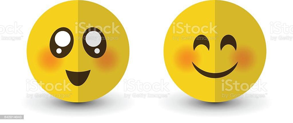 Set of emotions vector art illustration