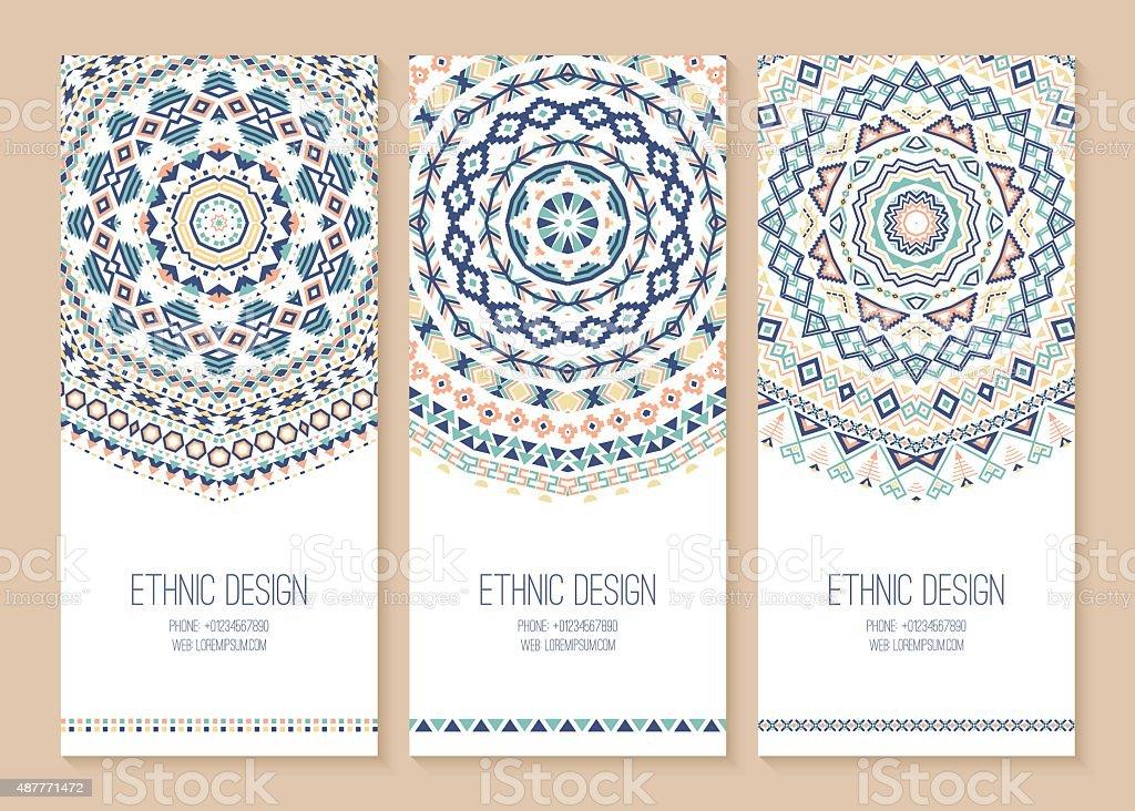 Set of ethnic banners. vector art illustration