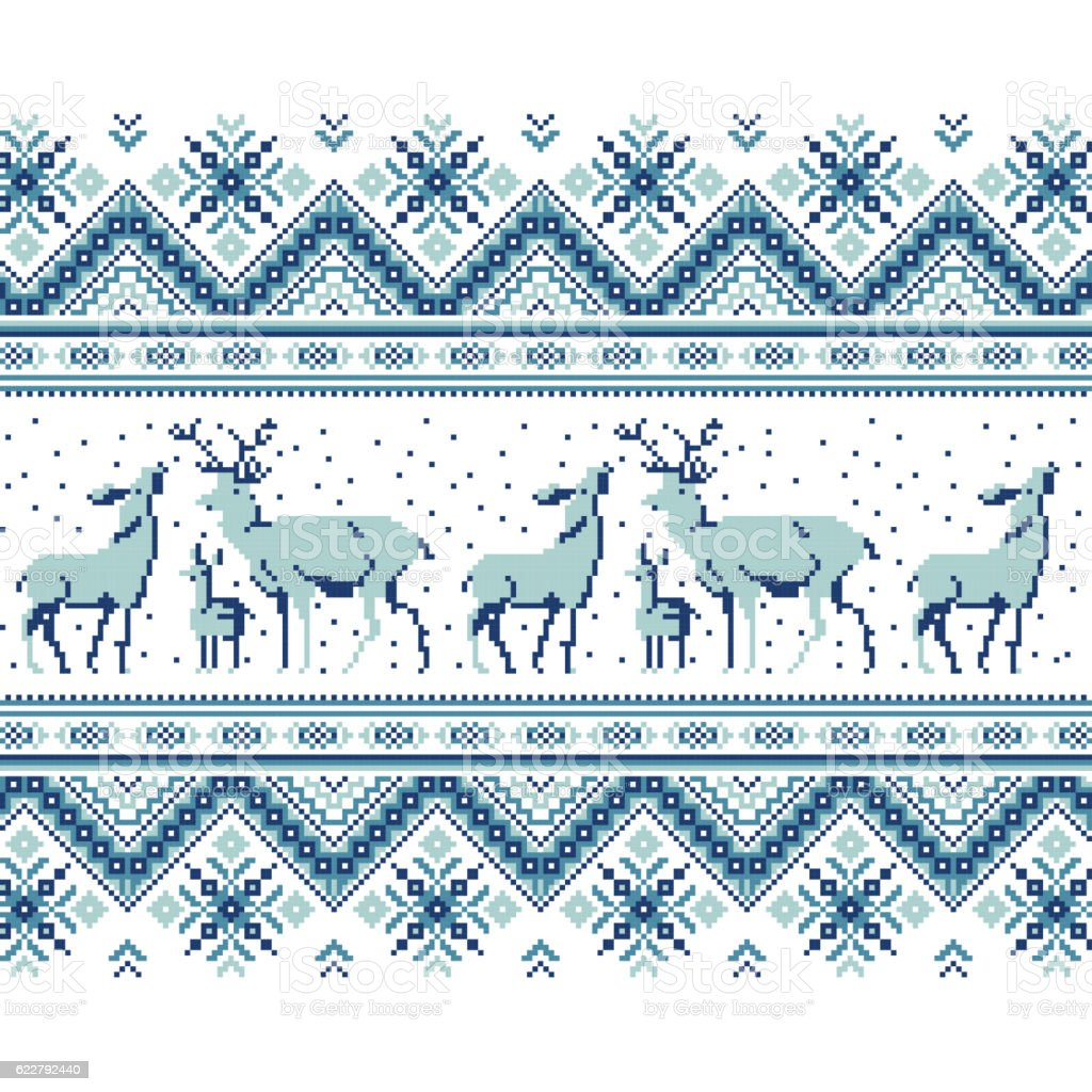 Set of Ethnic holiday ornament pattern in different colors vector art illustration