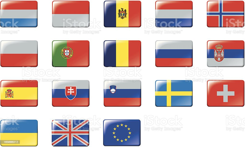 Set of European flags. Part 2/2 royalty-free stock vector art