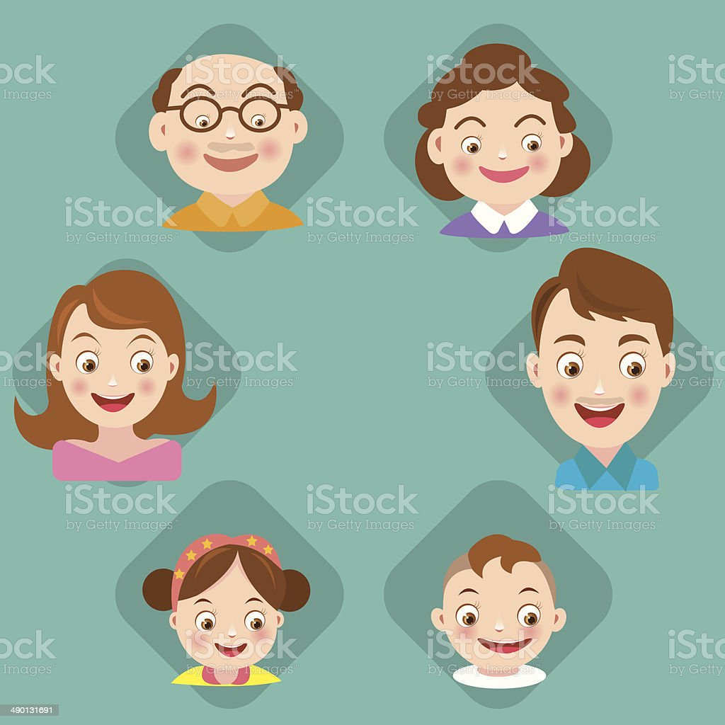 Set of family icons.vector vector art illustration