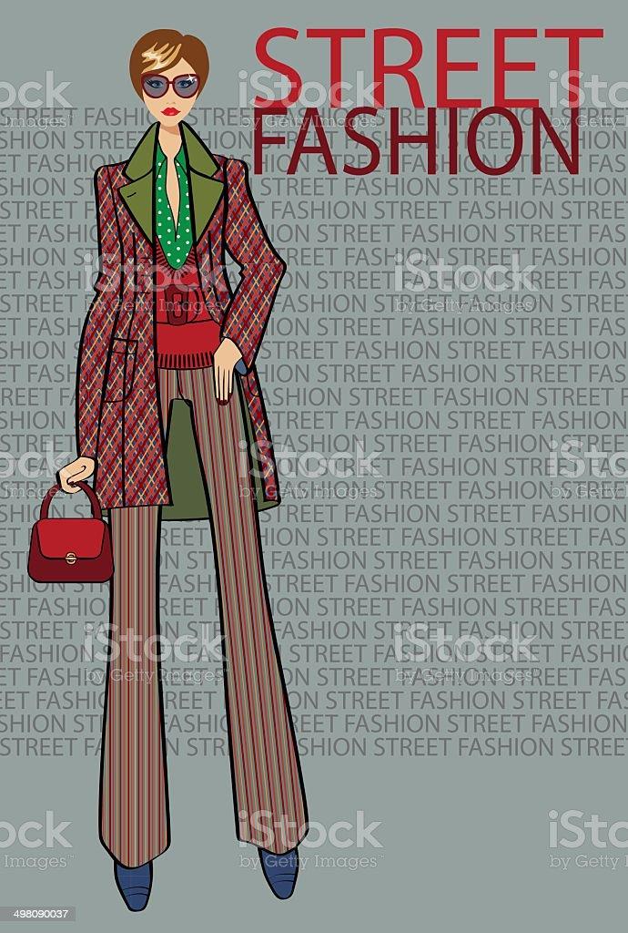 Set of Fashionable woman.Fashion Illustration vector art illustration