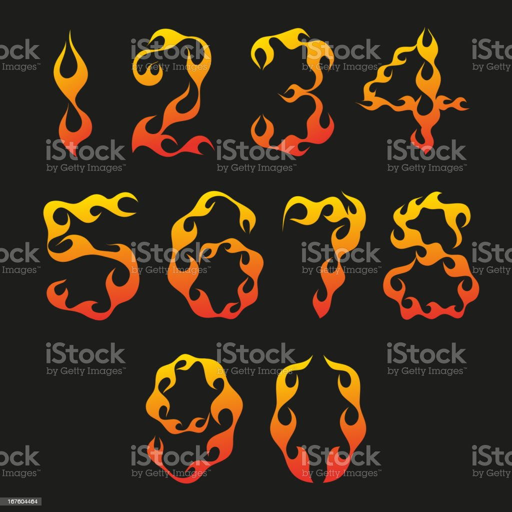 Set of figures isolated on a black backgrounds royalty-free stock vector art