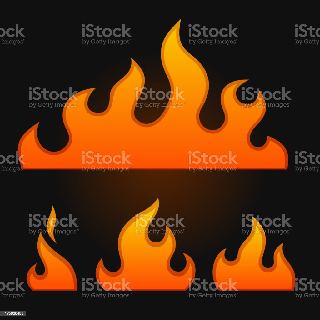 Set of fire elements royalty-free stock vector art