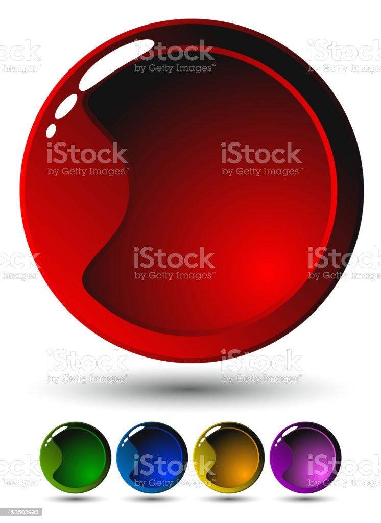 Juego de cinco botones brillante illustracion libre de derechos libre de derechos