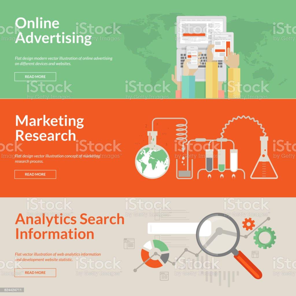 Set of flat design concepts for advertising vector art illustration
