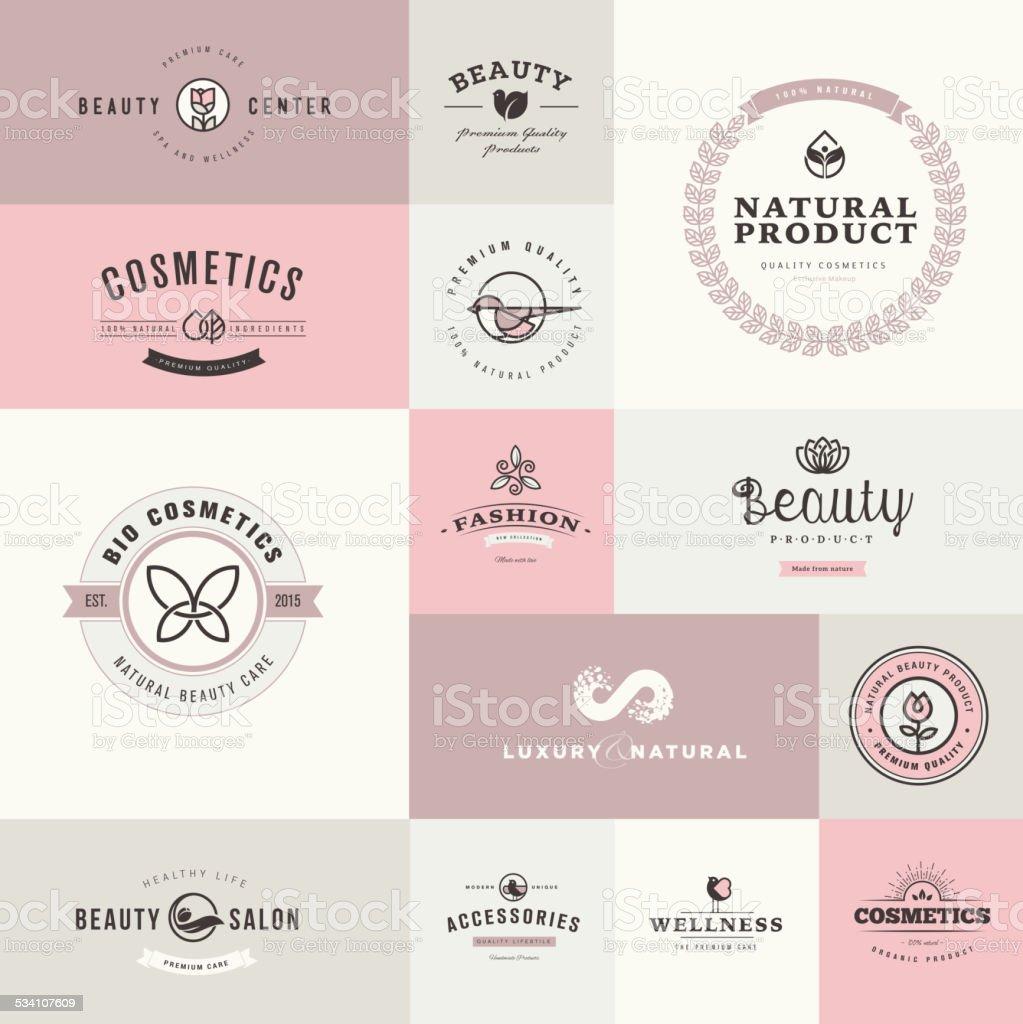 Conjunto de iconos de diseño plano para belleza y Cosméticos illustracion libre de derechos libre de derechos