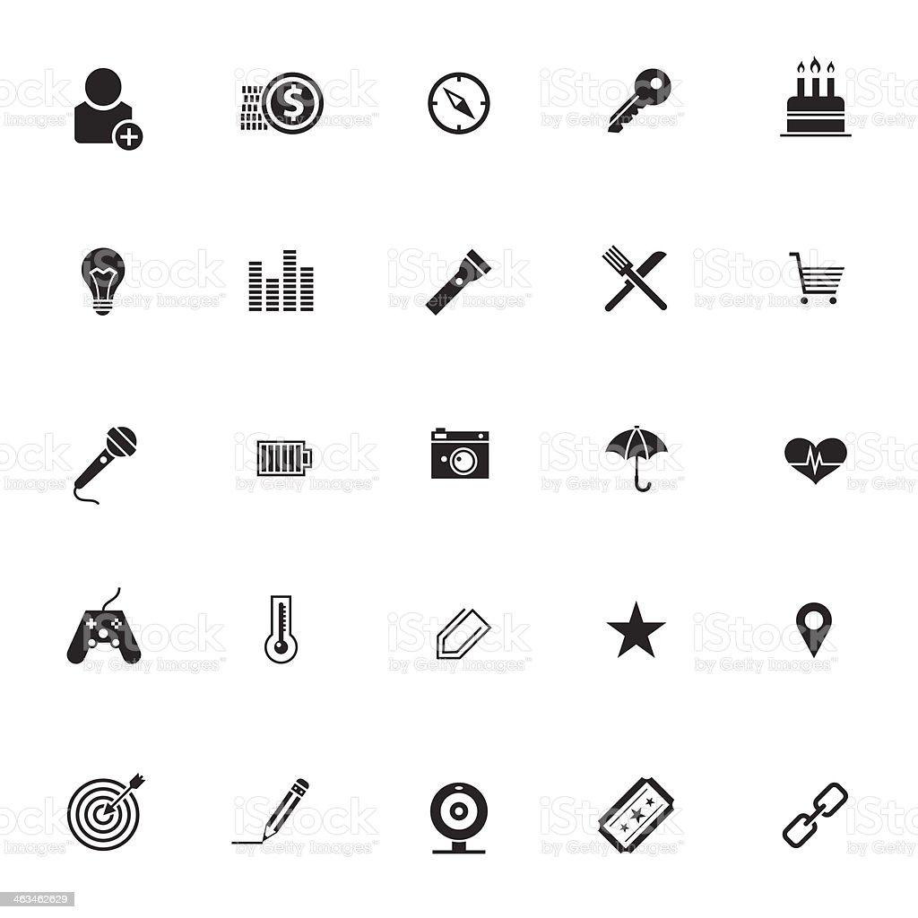 Set of flat design icons vector art illustration