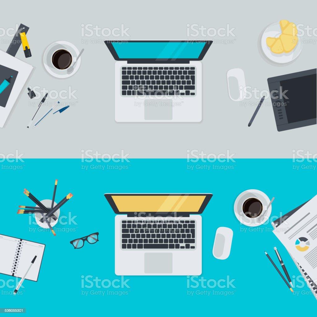 Set of flat design illustration concepts para área de trabajo illustracion libre de derechos libre de derechos